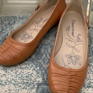 Bear Traps Walda Brown Leather Ballet Flats New
